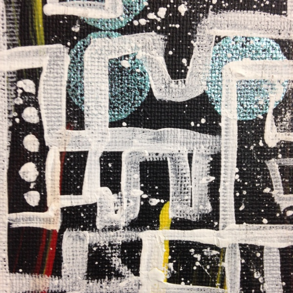 Close-Up 1 Life Maze- Tribute to Lee Krasner Linda Cleary 2014 Acrylic on Canvas