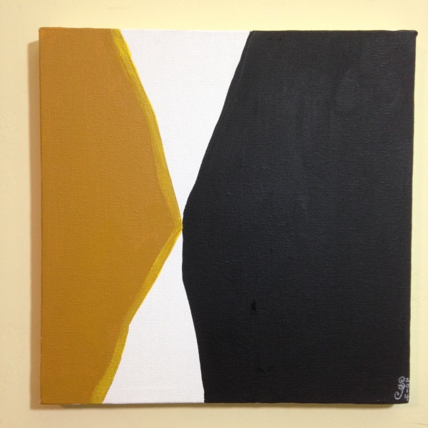 Ochre, Yellow, Black- Tribute to Anne Truitt Linda Cleary 2014 Acrylic on Canvas