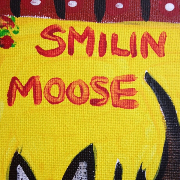 Close-Up 1 Smilin Moose- Tribute to William Hawkins Linda Cleary 2014 Acrylic on Canvas