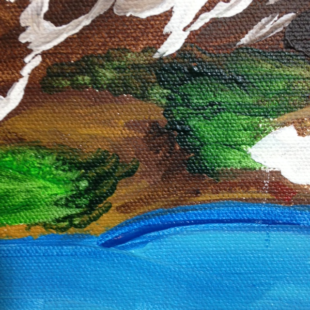 Close-Up 2 Mountain Landscape- Tribute to Othon Friesz Linda Cleary 2014 Acrylic on Canvas