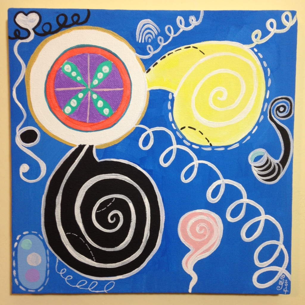 Anxioushood- Tribute to Hilma af Klint Linda Cleary 2014 Acrylic on Canvas