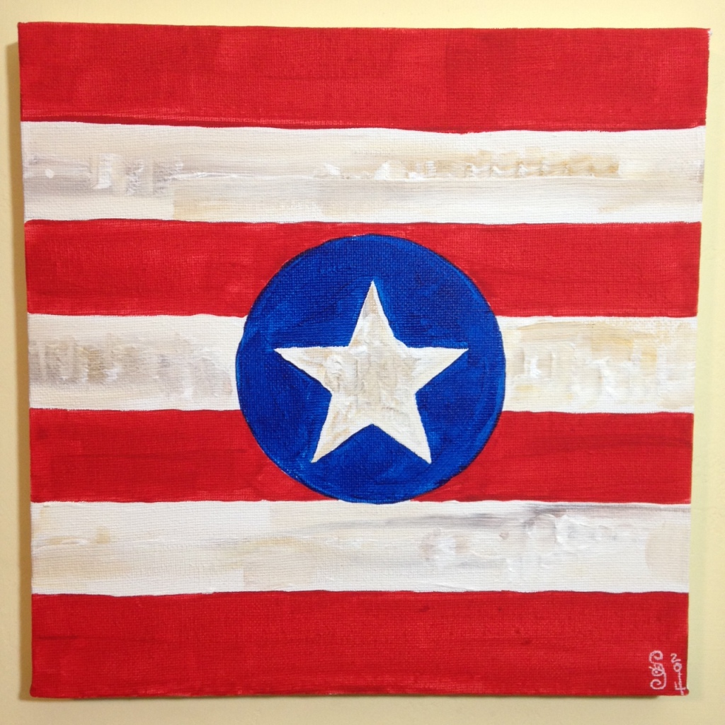 One State of Mind- Tribute to Jasper Johns Linda Cleary 2014 Acrylic on Canvas