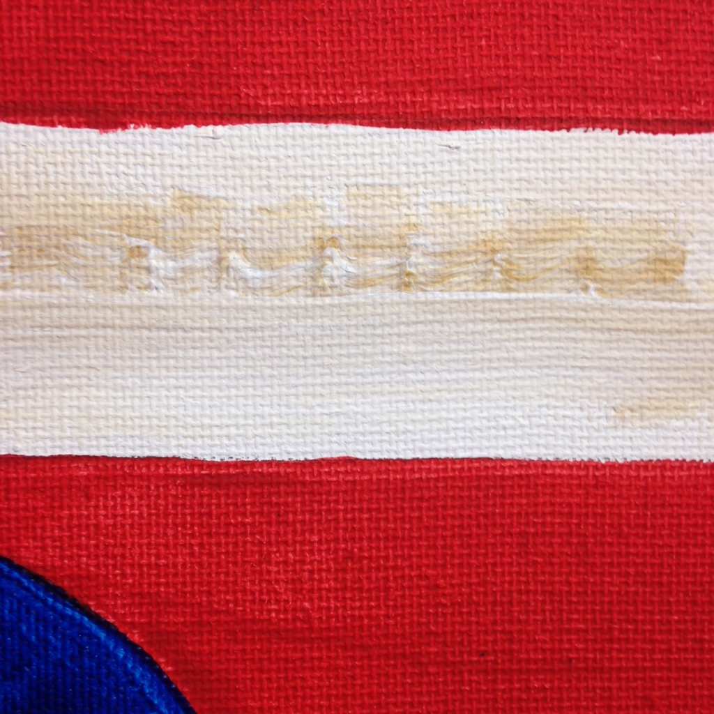 Close-Up 2 One State of Mind- Tribute to Jasper Johns Linda Cleary 2014 Acrylic on Canvas