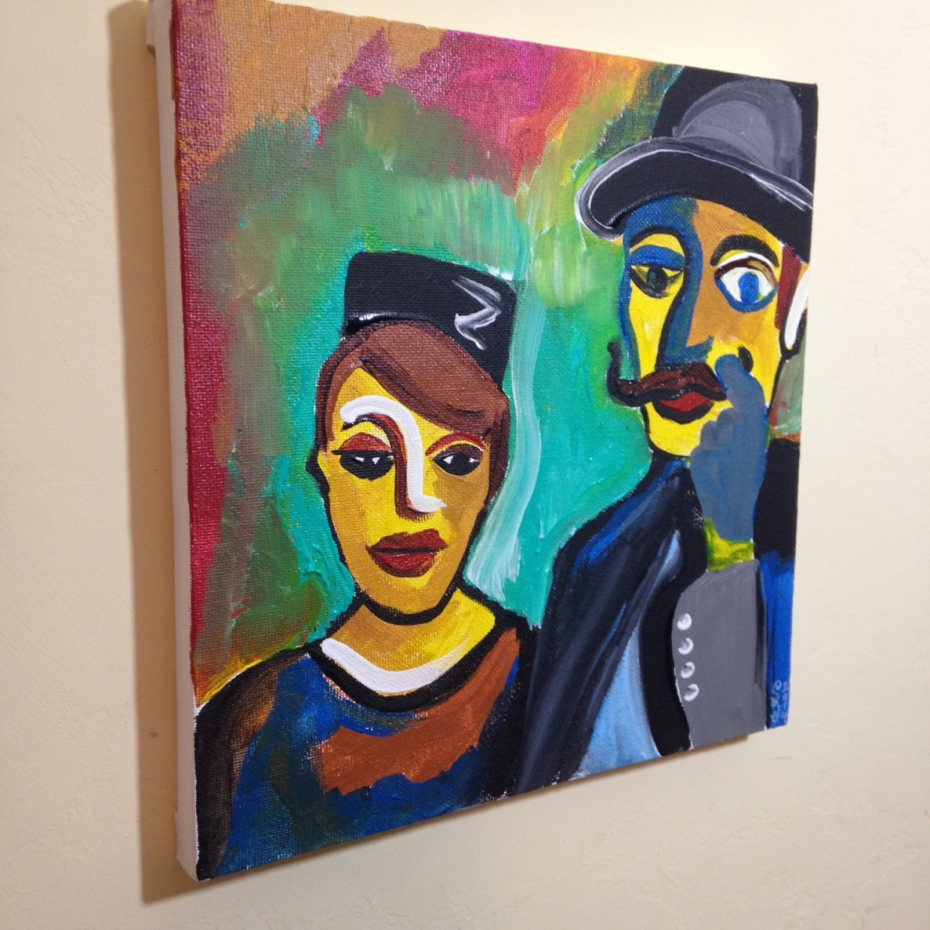 Side-View Olden Times- Tribute to Karl Schmidt-Rotluff Linda Cleary 2014 Acrylic on Canvas