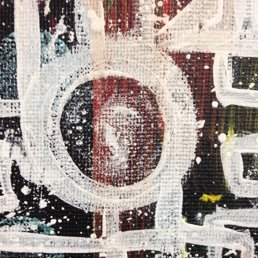 Close-Up 2 Life Maze- Tribute to Lee Krasner Linda Cleary 2014 Acrylic on Canvas