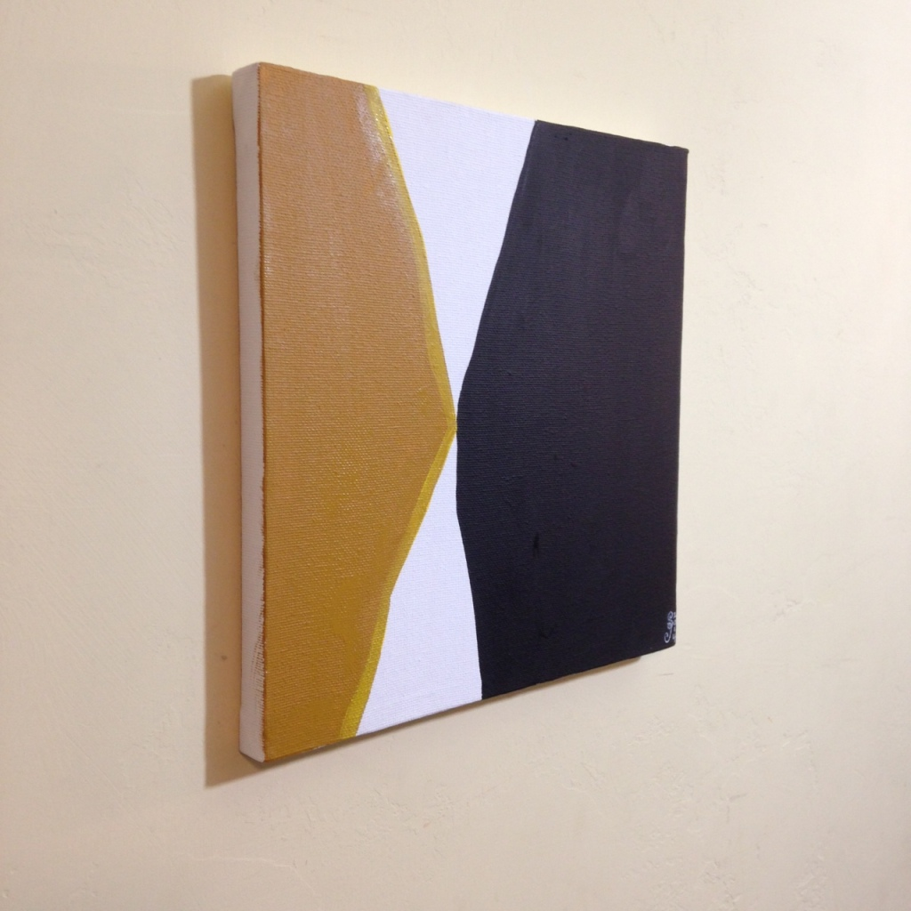Side-View Ochre, Yellow, Black- Tribute to Anne Truitt Linda Cleary 2014 Acrylic on Canvas