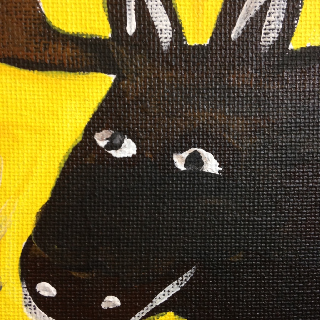 Close-Up 2 Smilin Moose- Tribute to William Hawkins Linda Cleary 2014 Acrylic on Canvas