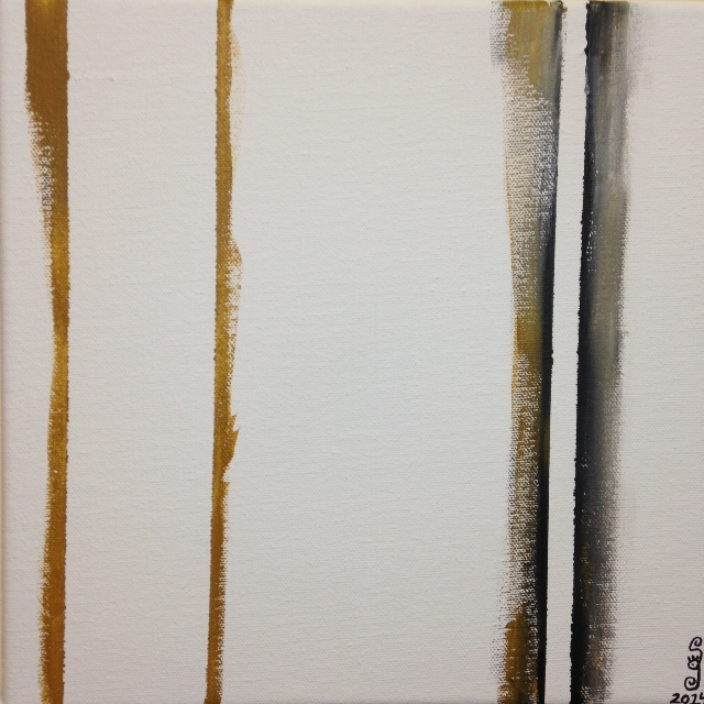 Double Zip- Tribute to Barnett Newman Linda Cleary 2014 Acrylic on Canvas