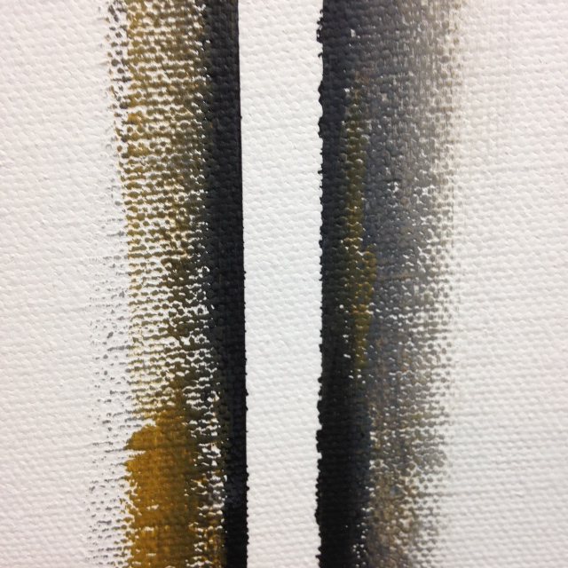 Close-Up 3 Double Zip- Tribute to Barnett Newman Linda Cleary 2014 Acrylic on Canvas