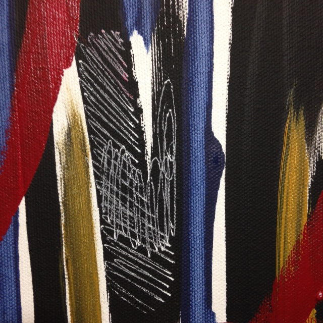Close-Up 1 Windy Wednesday- Tribute to Jack Tworkov Linda Cleary 2014 Acrylic on Canvas