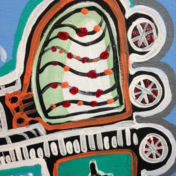 Close-Up 1 Aeroplano Musicale- Tribute to Tarcisio Merati Linda Cleary 2014 Acrylic on Canvas