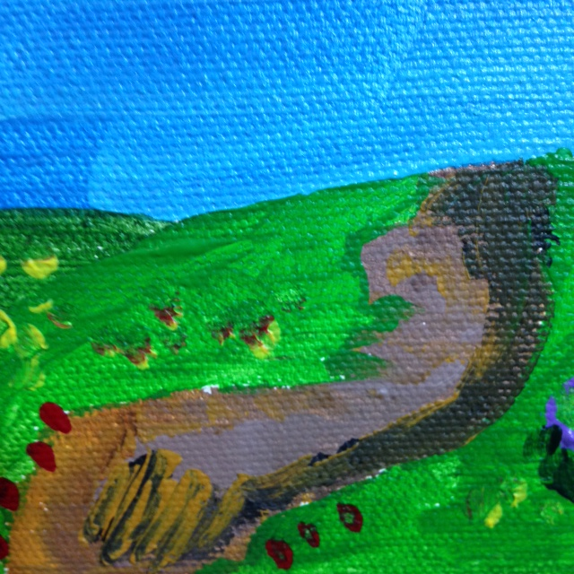 Close-Up 3 Mountain Landscape- Tribute to Othon Friesz Linda Cleary 2014 Acrylic on Canvas