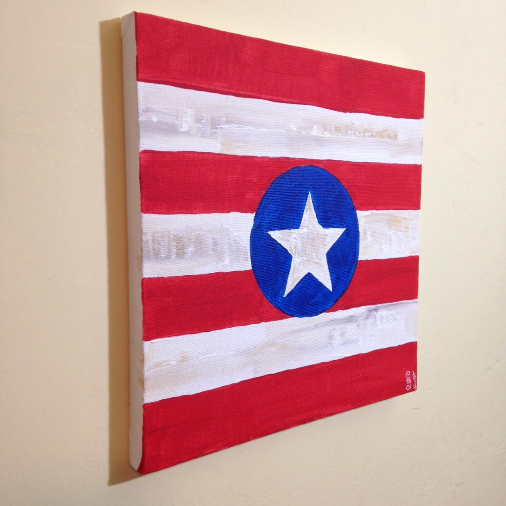 Side-View One State of Mind- Tribute to Jasper Johns Linda Cleary 2014 Acrylic on Canvas