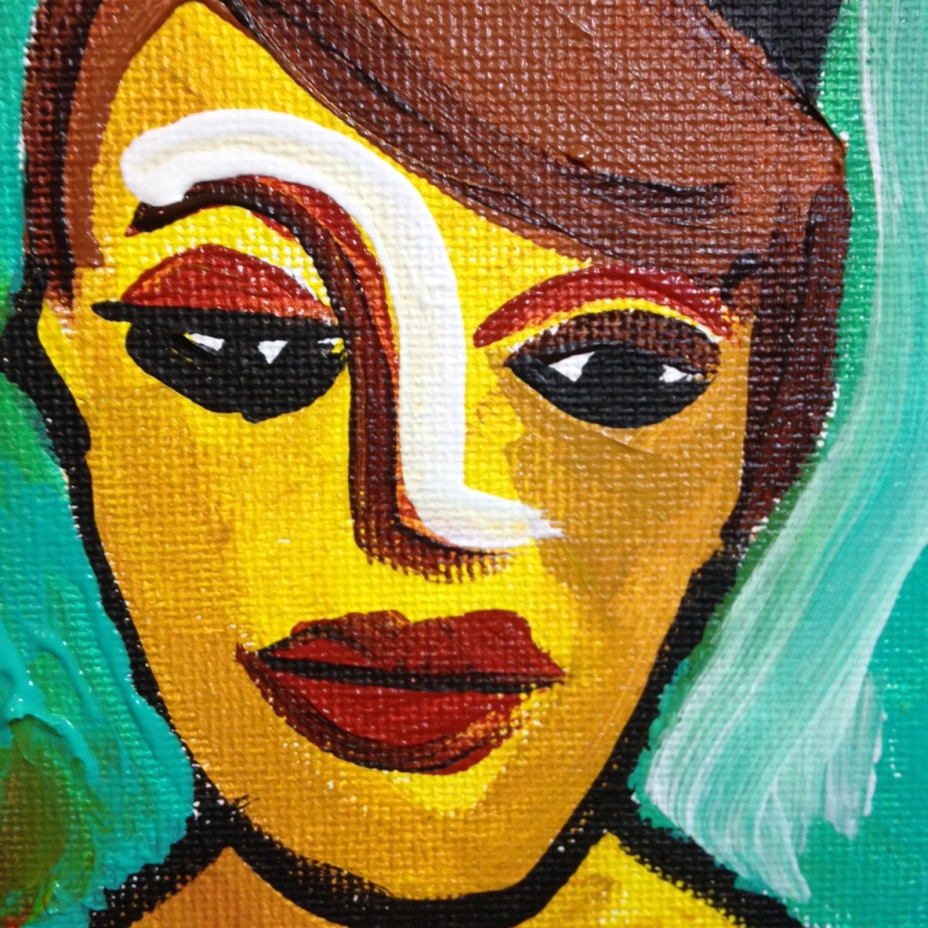 Close-Up 1 Olden Times- Tribute to Karl Schmidt-Rotluff Linda Cleary 2014 Acrylic on Canvas