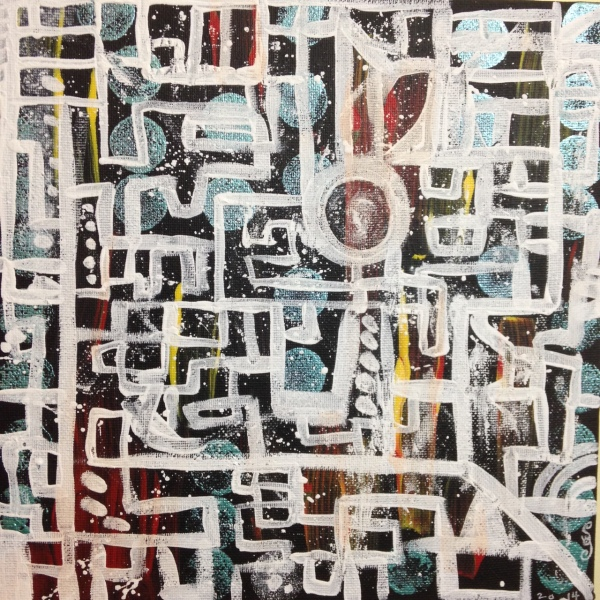 Life Maze- Tribute to Lee Krasner Linda Cleary 2014 Acrylic on Canvas