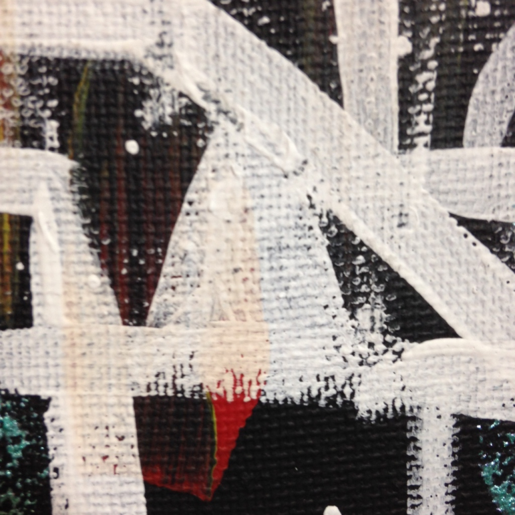 Close-Up 3 Life Maze- Tribute to Lee Krasner Linda Cleary 2014 Acrylic on Canvas