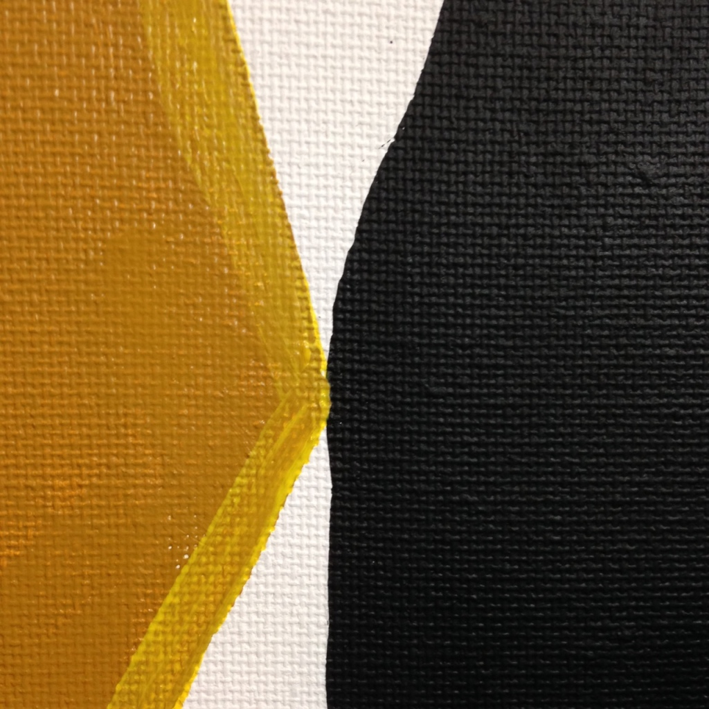 Close-Up 1 Ochre, Yellow, Black- Tribute to Anne Truitt Linda Cleary 2014 Acrylic on Canvas