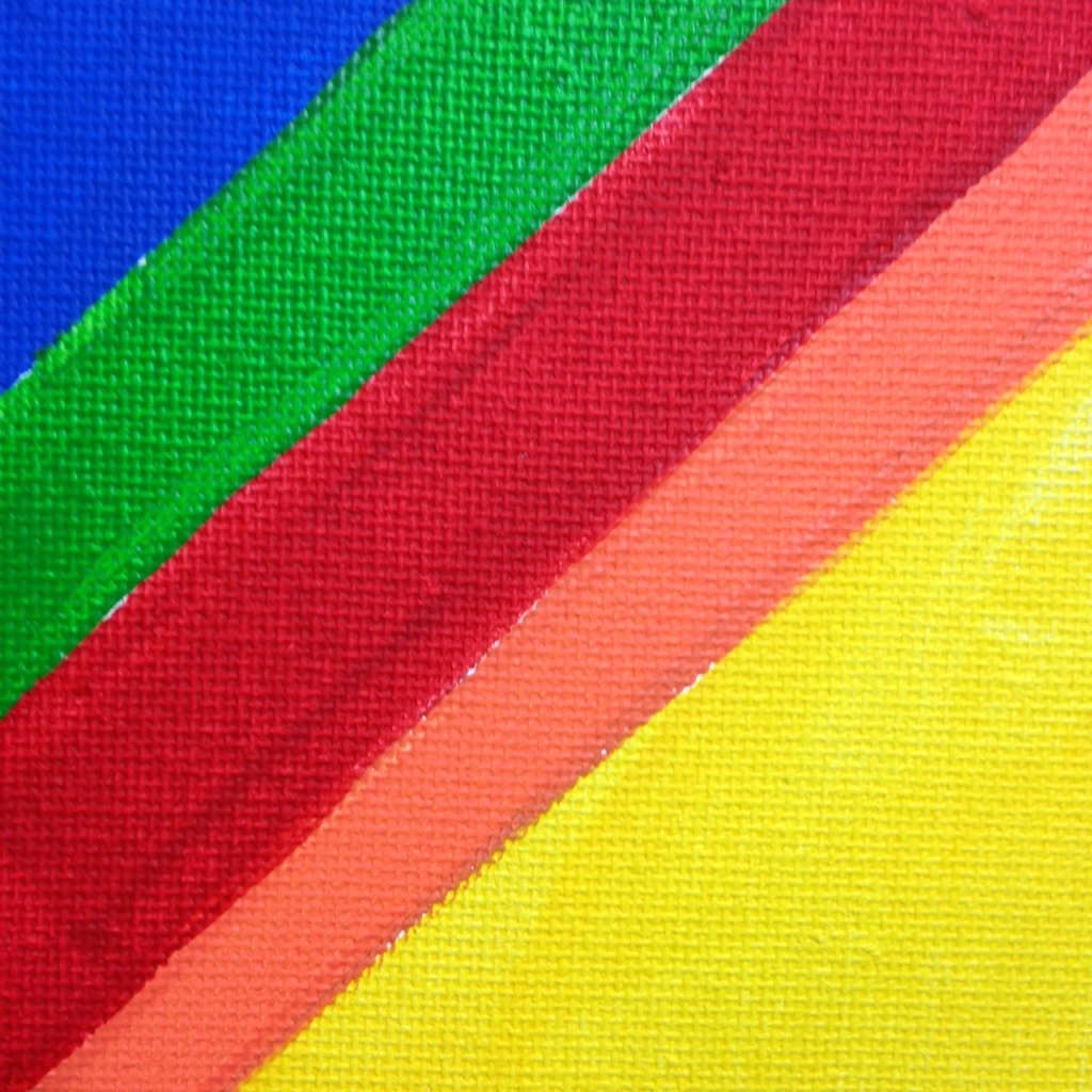 Close-Up 1 Rainbow Chevron- Tribute to Kenneth Noland Linda Cleary 2014 Acrylic on Canvas