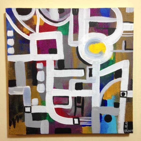 Number 62- Tribute to Bradley Walker Tomlin Linda Cleary 2014 Acrylic on Canvas