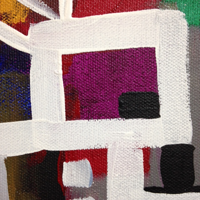 Close-Up 3 Number 62- Tribute to Bradley Walker Tomlin Linda Cleary 2014 Acrylic on Canvas