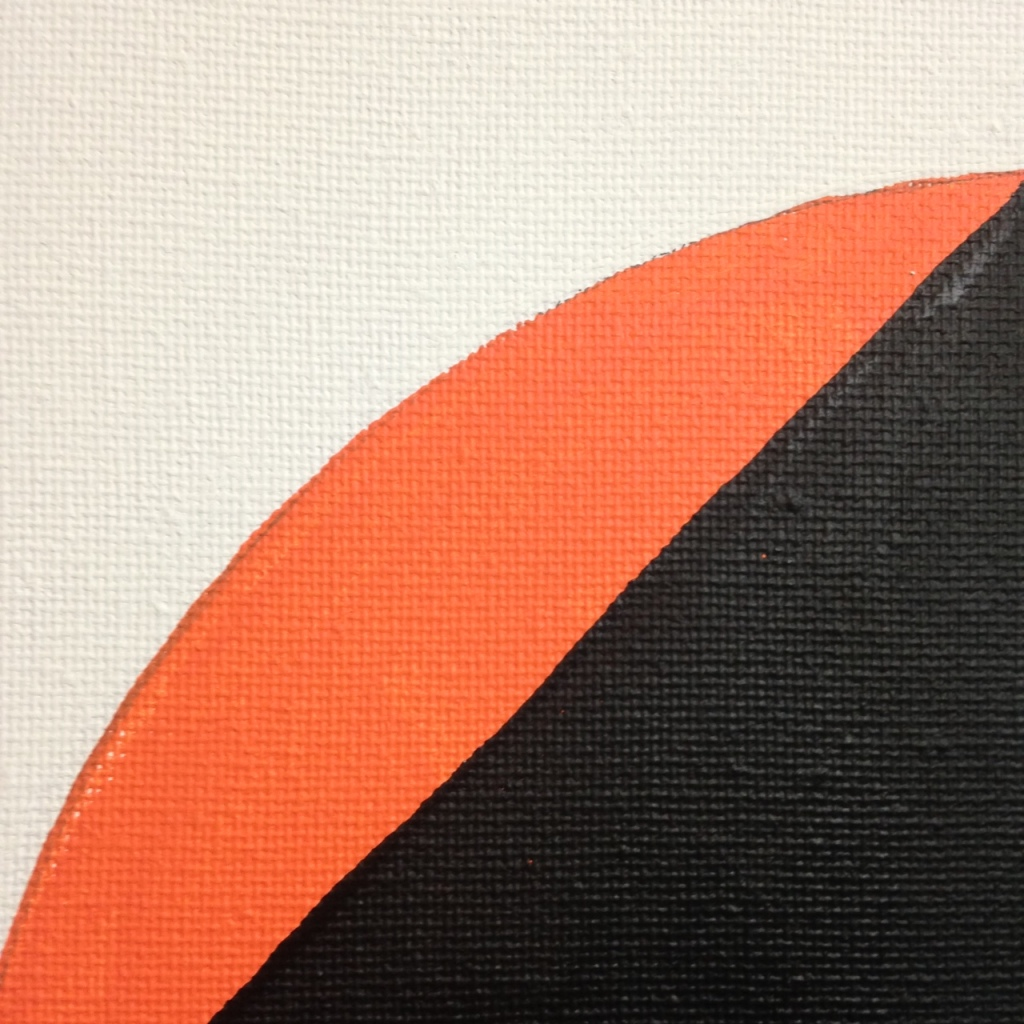 Close-Up 2 Split Circle- Tribute to Robert Mangold Linda Cleary 2014 Acrylic on Canvas