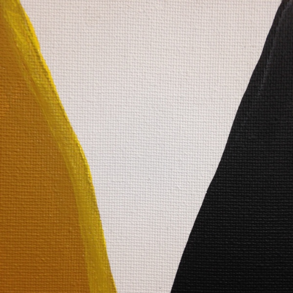 Close-Up 2 Ochre, Yellow, Black- Tribute to Anne Truitt Linda Cleary 2014 Acrylic on Canvas