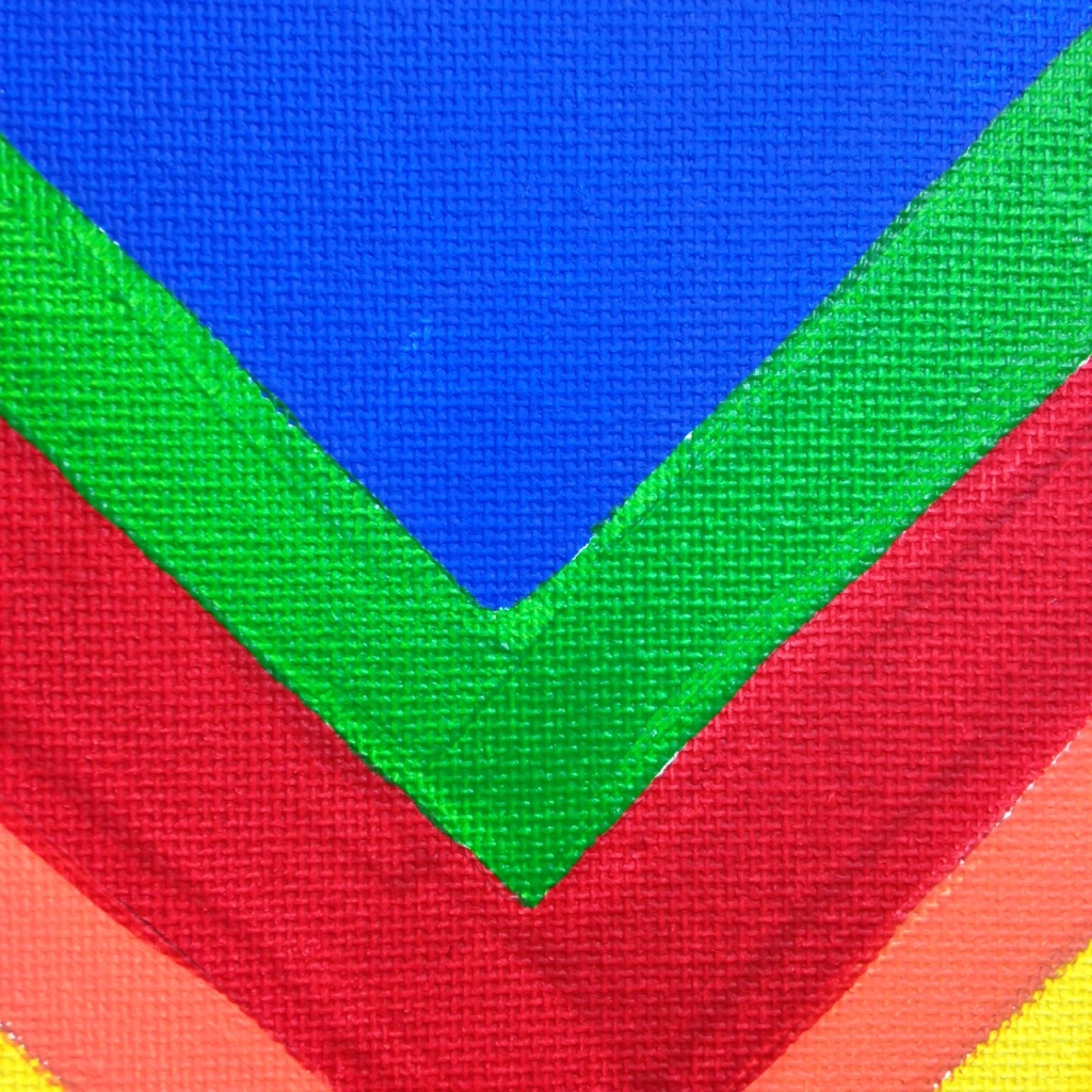 Close-Up 2 Rainbow Chevron- Tribute to Kenneth Noland Linda Cleary 2014 Acrylic on Canvas