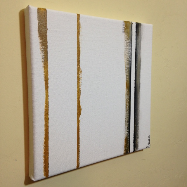 Side-View Double Zip- Tribute to Barnett Newman Linda Cleary 2014 Acrylic on Canvas