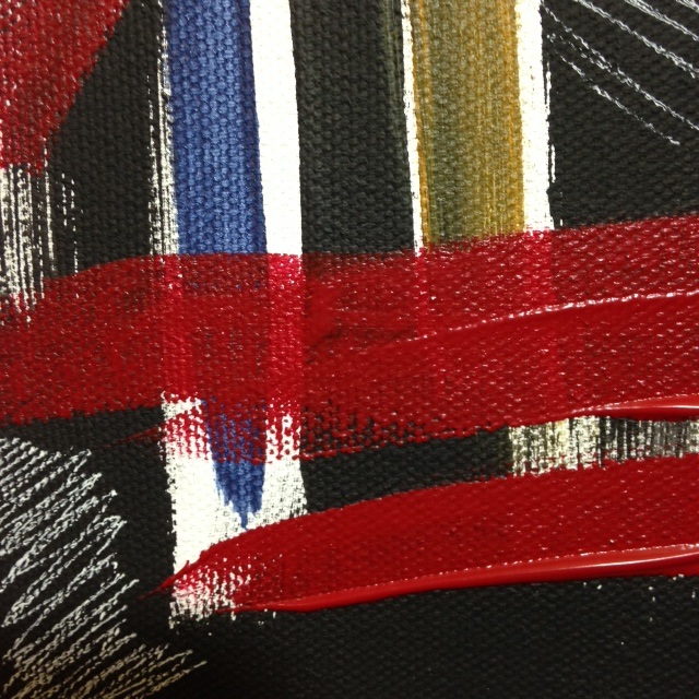 Close-Up 3 Windy Wednesday- Tribute to Jack Tworkov Linda Cleary 2014 Acrylic on Canvas