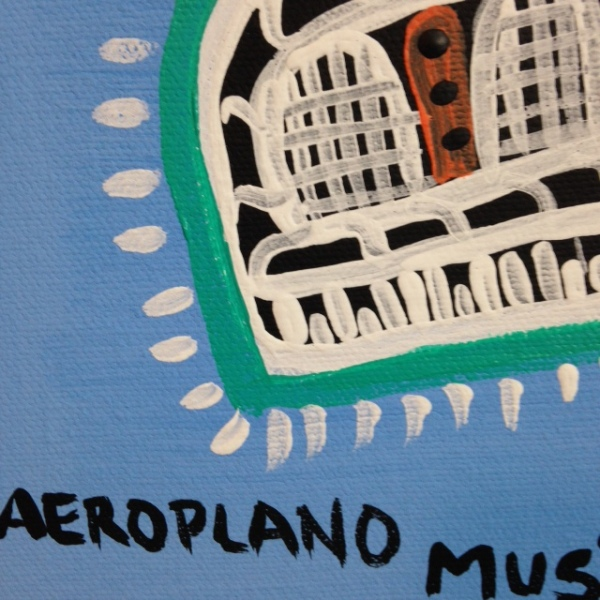 Close-Up 3 Aeroplano Musicale- Tribute to Tarcisio Merati Linda Cleary 2014 Acrylic on Canvas