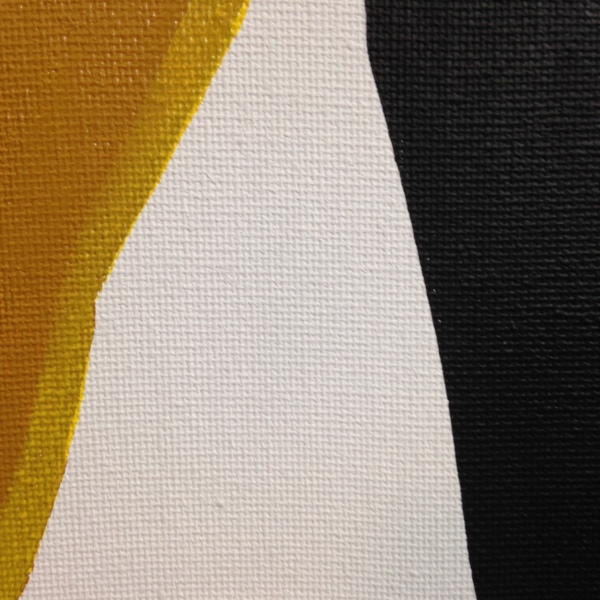 Close-Up 3 Ochre, Yellow, Black- Tribute to Anne Truitt Linda Cleary 2014 Acrylic on Canvas