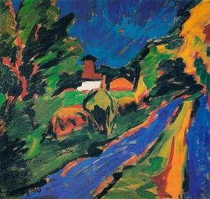 Dangast Landscape- Karl Schmidt-Rotluff