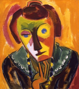 Schmidt-Rottluff, Karl. German. 1884-1976. Portrait of Emy. 1919. Oil on canvas