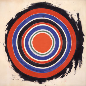 'Beginning', magna on canvas painting by Kenneth Noland, Hirshhorn Museum and Sculpture Garden, 1958