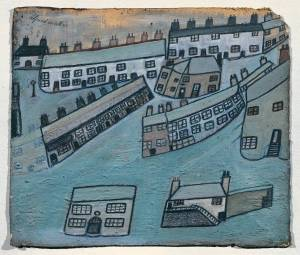 Houses at St Ives, Cornwall circa 1928-42 Alfred Wallis