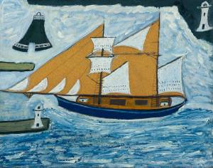 The Blue Ship circa 1934 Alfred Wallis