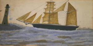 Two-Masted Ship circa 1928 Alfred Wallis
