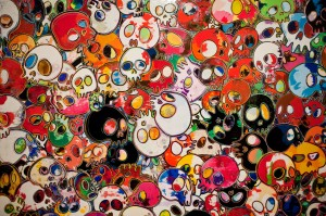 Takashi Murakami- Flowers and Skulls