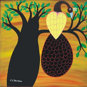 Bird in Tree- Edward Tingatinga