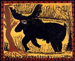 Elk with Human Eyes- William Hawkins