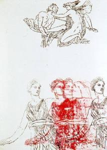 Artemis, Goddess and Centaur (1983)- Nancy Spero