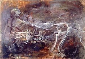 Nancy Spero- from her Black Paintings