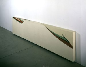 One of Jo Baer's wraparound paintings