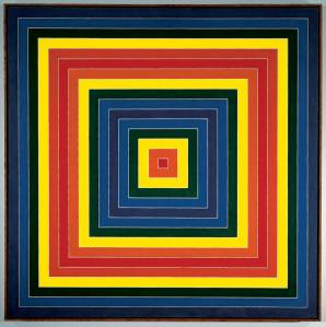 "Frank Stella (American, born 1936) Gran Cairo.  1962 Alkyd on canvas 85 ¼ x 85 ¼"" (216.5 x 216.5 cm) Whitney Museum of American Art, New York.  Purchase, with funds from the Friends of the Whitney Museum of American Art © 2008 Frank Stella/Artists Rights Society (ARS), New York"