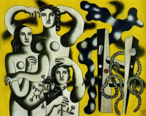 Composition with the three figures - Fernand Leger