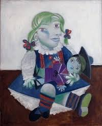 Portrait of Maya with her doll - Pablo Picasso (1938)