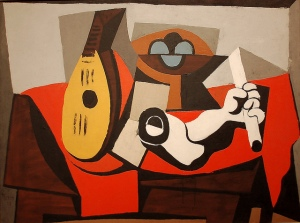 Mandolin, Fruit Bowl and Plaster Arm (1925)- Pablo Picasso