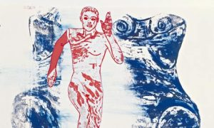 A detail of The Re-Birth of Venus, handprinting on paper, 1984 Photograph: David Reynolds/Anthony Reynolds Gallery