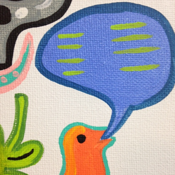 Close-Up 2 Funhouse- Tribute to Elizabeth Murray Linda Cleary 2014 Acrylic on Canvas