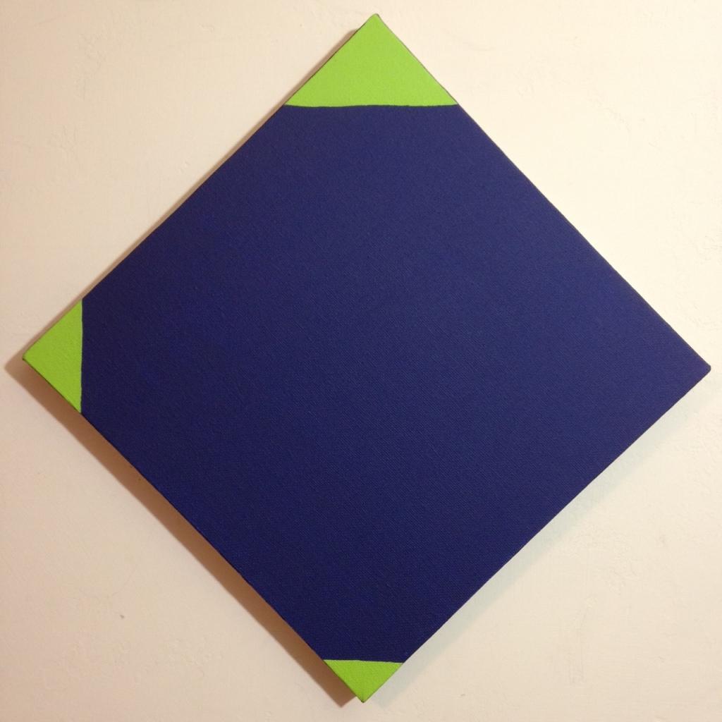 Blau und Grün- Tribute to Max Bill Linda Cleary 2014 Acrylic on Canvas